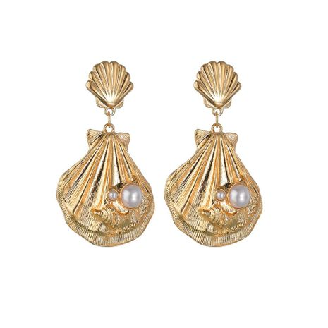 Womens Shell and Beads Alloy Earrings NHBQ130364's discount tags