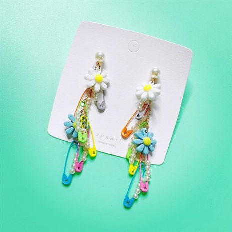 Fashion flower contrast creative design earrings NHYQ130367's discount tags