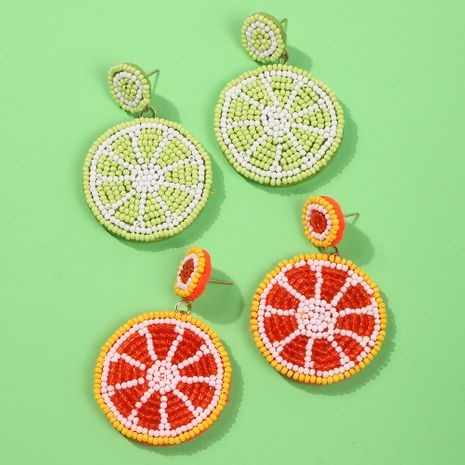 Womens Geometric Beads Earrings NHMD130368's discount tags