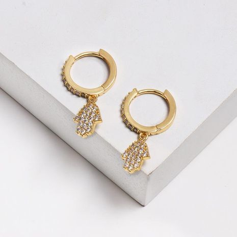 Fashion micro-encrusted zircon earrings NHJJ130387's discount tags
