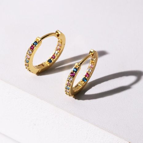 Fashion micro-stitched zircon alloy earrings NHJJ130399's discount tags