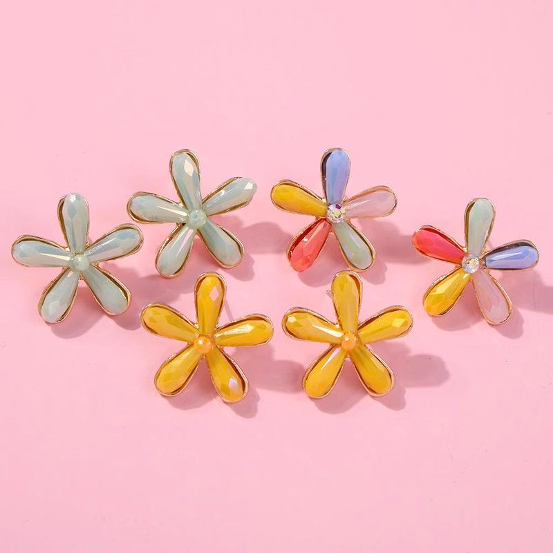 Wild small fresh flowers super fairy alloy earrings NHMD130424