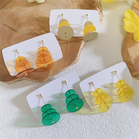Fashion Cake Layer Candy Acrylic Sandwich Earrings NHYQ130456's discount tags