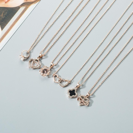 Fashion personality variety of crown stars alloy necklace NHWF130467's discount tags