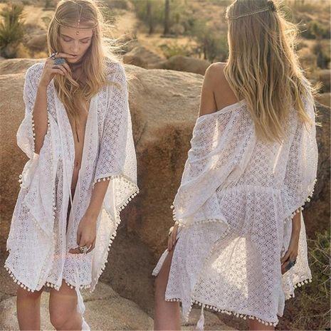 Lace ball side beach coat loose large size cardigan bikini cover NHXW132661's discount tags