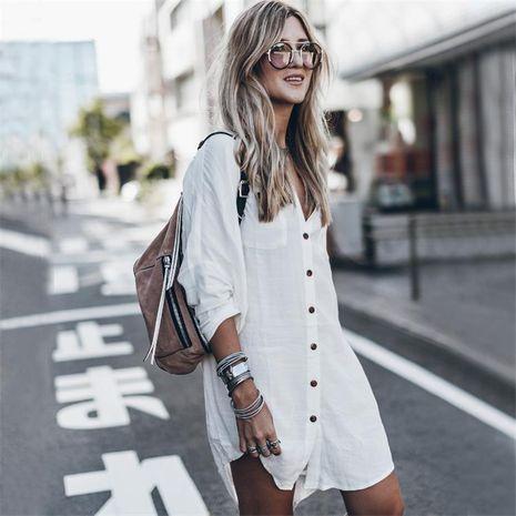 Cotton Beach Jacket Holiday Sun Protection Bikini Blouse NHXW132673's discount tags