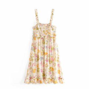 Falda de playa de algodón con estampado de otoño estampado en la oreja NHAM132741's discount tags
