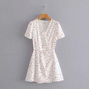 Todo el cuerpo de verano forrado con vestido de abrigo de impresión de grupo de mujeres NHAM132757's discount tags