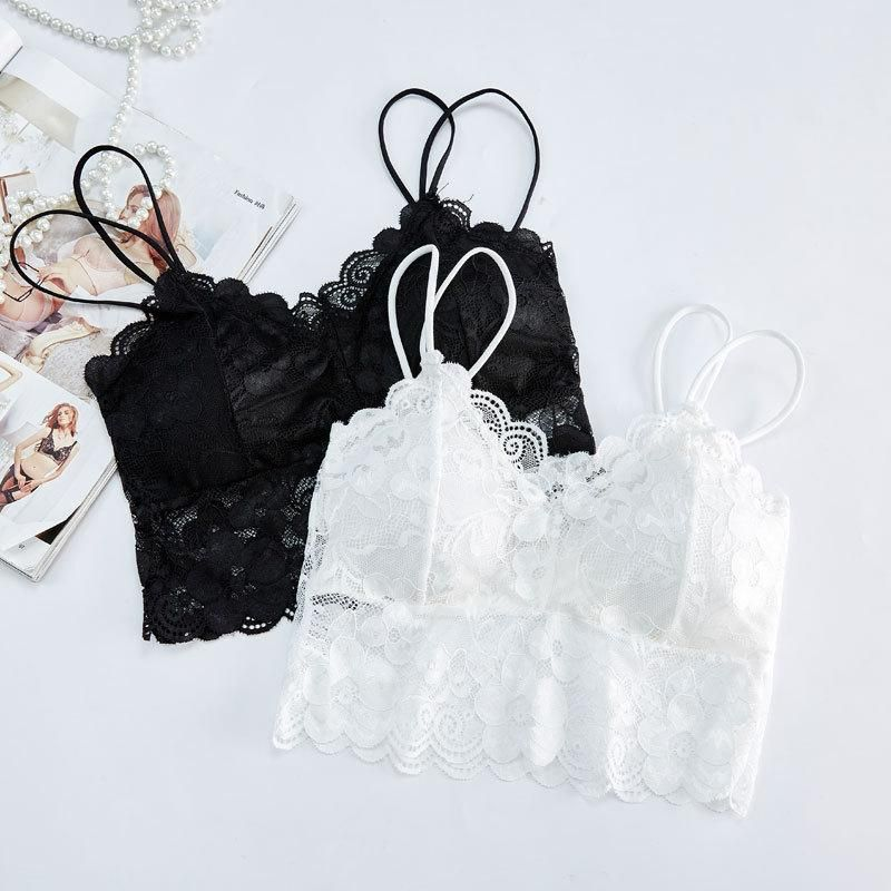Sexy lace openwork breathable tube top underwear NHXW132780