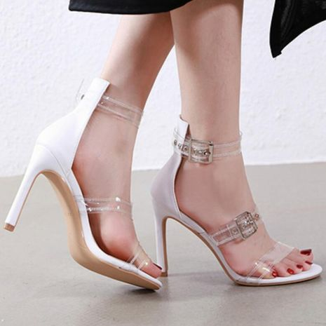 Fashion stiletto buckle with transparencies sandals NHSO132803's discount tags