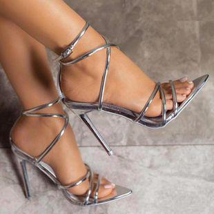 Zapatos romanos de tacón alto con tirantes finos y puntiagudos. NHSO132846's discount tags