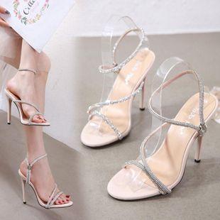 Rhinestones sexy con sandalias de tacón de aguja NHSO132853's discount tags
