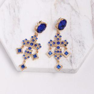 Womens Cross Rhinestone Alloy Earrings NHJJ132894's discount tags