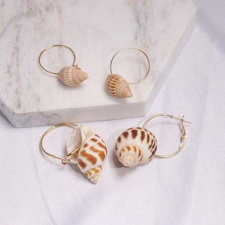 Fashion seaside vacation shell conch earrings NHJJ133007's discount tags