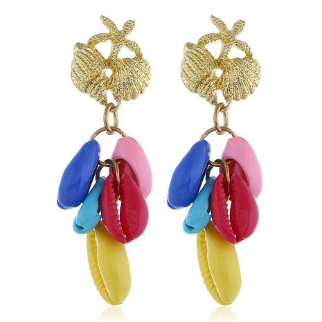 Creative design simple shell alloy earrings NHKQ133026's discount tags