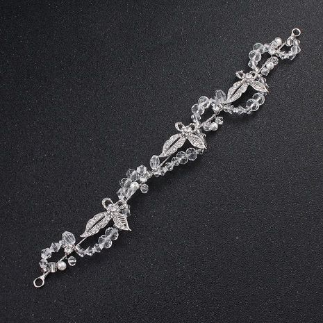 Butterfly imitated crystal handmade bridal tiara NHHS133030's discount tags