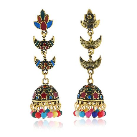 Bohemian shell coral multi-layer alloy earrings NHKQ133036's discount tags
