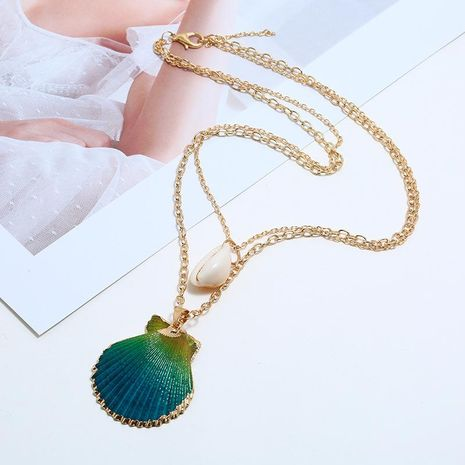 Simple retro natural shell necklace NHKQ133042's discount tags