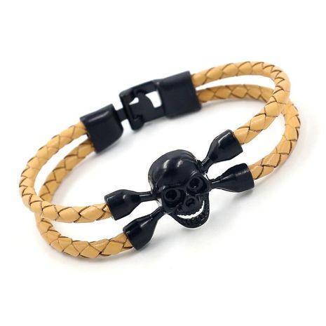 Mens Geometric Leather Bracelets & Bangles NHHM133037's discount tags