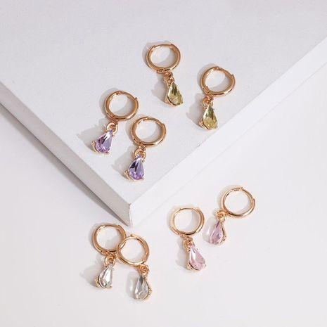 Korean geometric drop-shaped rhinestone alloy earrings NHJJ133048's discount tags