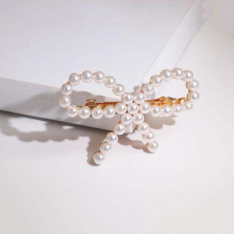 Korea highlight beads bow hair clip NHJJ133049's discount tags