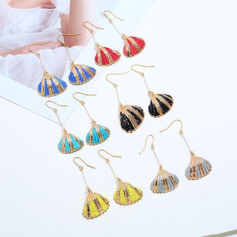 Retro exaggerated marine wind alloy earrings NHKQ133054's discount tags