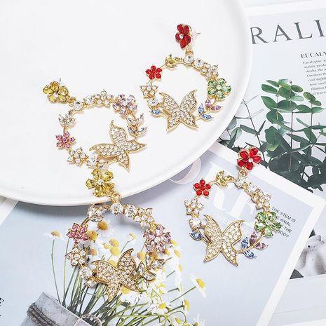 Womens Butterfly Rhinestone Alloy  Earrings NHJJ133069's discount tags