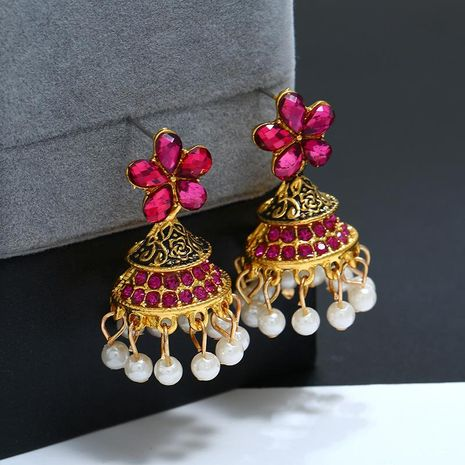 Vintage drip oil wind chime beads alloy earrings NHKQ133080's discount tags