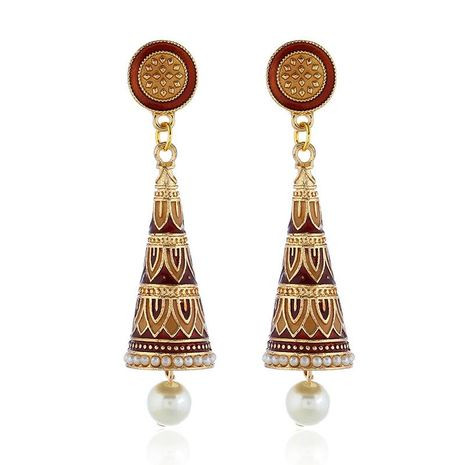 Womens Doll Plating Alloy Earrings NHKQ133083's discount tags