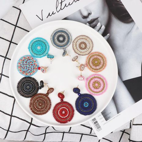 Womens Geometric Rice Beads Earrings NHJJ133086's discount tags