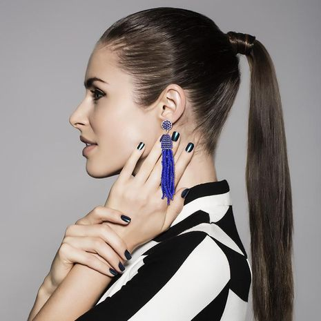 Fashion rice beads tassel earrings NHKQ133094's discount tags