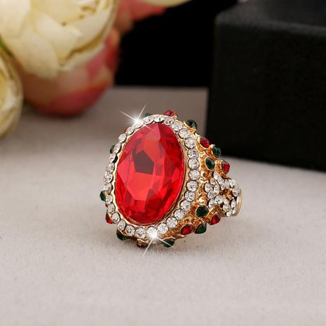 Unisex geometry inlay imitated crystal alloy Rings NHKQ133115's discount tags