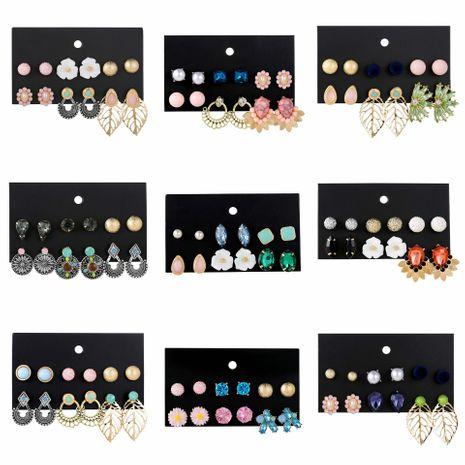 Fashion Acrylic Flower Shell Stud Earrings Set NHSD133117's discount tags