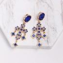 Womens Cross Rhinestone Alloy Earrings NHJJ132894