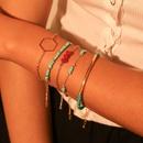 Fashion blue rice bead bracelet fivepiece NHMD133020