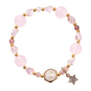 Sweet girl heart ocean wind fivepointed star bracelet NHMS133110