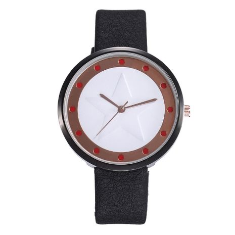 Fashion creative five-pointed star rivet casual belt quartz watch NHHK133167's discount tags