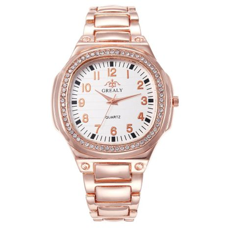 Fashion casual digital scale steel with full rhinestone alloy quartz watch NHHK133180's discount tags