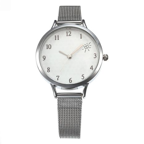 Simple fashion mesh belt watch female models heart scale ladies quartz watch NHHK133183's discount tags