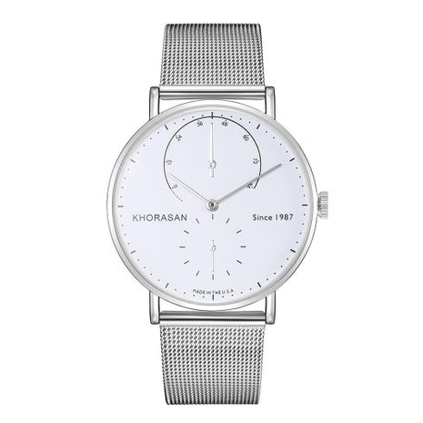 Simple scale alloy mesh belt business quartz watch NHHK133184's discount tags