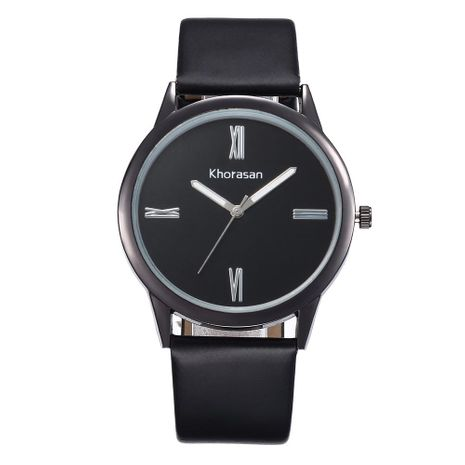Sleek minimalist Roman scale belt quartz watch NHHK133190's discount tags