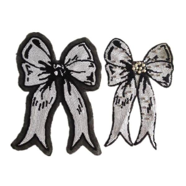 Fashion girl bow sequin cloth NHLT133194