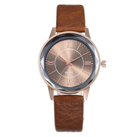 Fashion Roman Scale Simple Belt Prismatic Glass Quartz Watch NHHK133203's discount tags