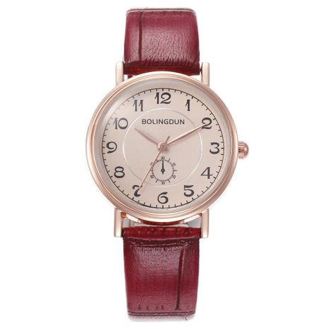 Fashion simple ladies fine watch with digital scale belt quartz watch NHHK133206's discount tags