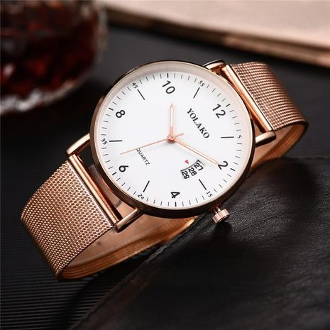 Fashion ultra-thin business alloy mesh belt watch NHSY133238's discount tags