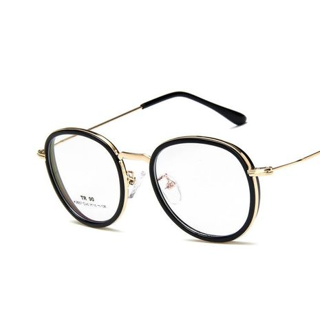 Fashion round with myopia frame mirror NHKD133266's discount tags