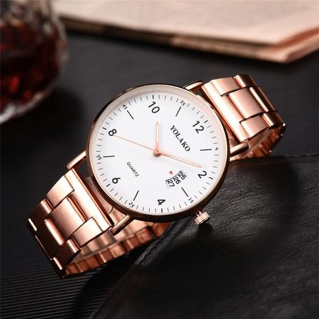 Simple and high-grade ultra-thin calendar business watch NHSY133269's discount tags