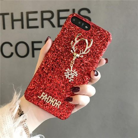 Elk Tide brand Apple luxury rhinestone snowflake mobile phone case NHJP133303 For iphone's discount tags