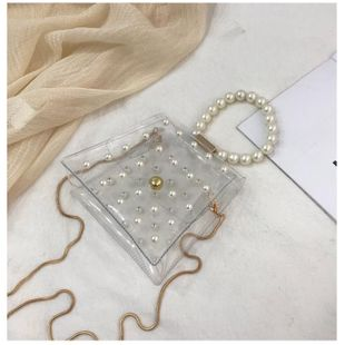 2019pvc beadss shoulder bag shoulder chain bag NHXC133365's discount tags