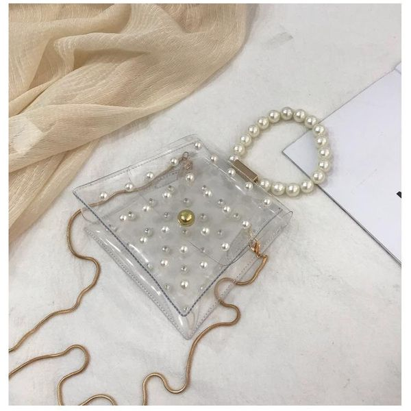2019pvc beadss shoulder bag shoulder chain bag NHXC133365